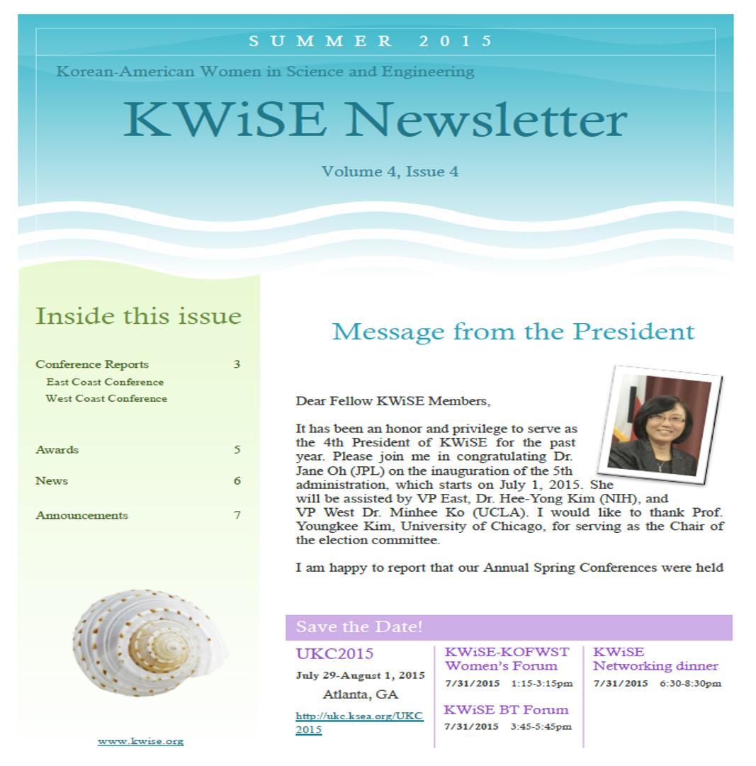 KWiSE_Newsletter_spring2015